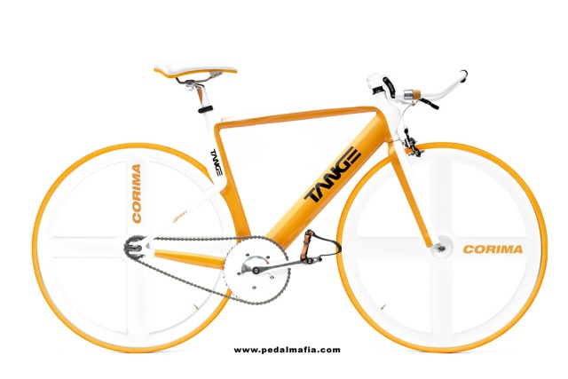 Design-Bike Pedalmafia Tange in knallgelb. Fällt sofort ins Auge.