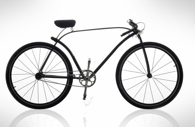 Design Bike Pilen Concept mit sehr schlanken Rahmen-Rohren. SIeht sehr filigran und geschwungen aus
