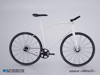 Formschönes Designer-Fahrrad MUSKOX