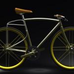 Designer-Fahrrad mit integriertem Gepäckträger