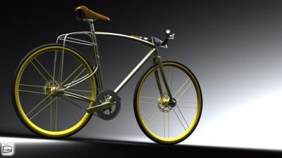 designer fahrrad mit integriertem gep cktr ger. Black Bedroom Furniture Sets. Home Design Ideas
