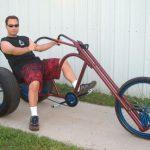 Monster-Chopper Fahrrad im Eigenbau