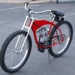 Nostalgie Cruiser-Fahrrad Ducati Cucciolo mit Motor nachgebaut