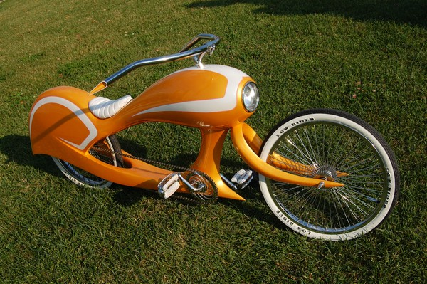 Retro Beachcruiser von Jason Battersby in orange