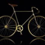 Fahrrad aus Gold von Aurumania ist ein Fixie