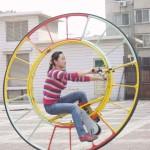 Einrad als Riesenrad