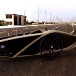 BamTrike: Futuristisches Designer Liege-Dreirad aus Bambus