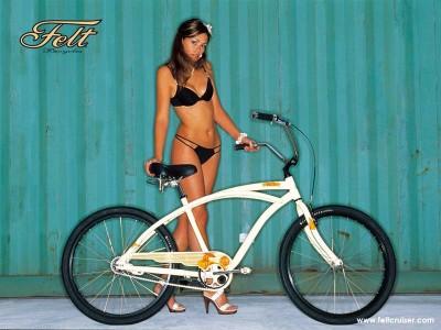 frau-bikini-felt-cruiser