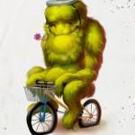 Radfahrer als harmlose Ungeheuer: Illustrationen von Joel Hustak