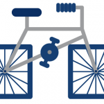 Fahrrad-Illustrationen der ausgeflippten Sorte