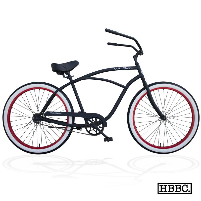 HBBC Old Skool Beach-Cruiser in schwarz und rot. In den USA ist das Rad für ganze 300$ zu haben.