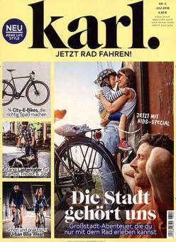 Das Cover der zweiten Ausgabe vom Karl Magazin - Schlagzeile: Die Stadt gehört uns