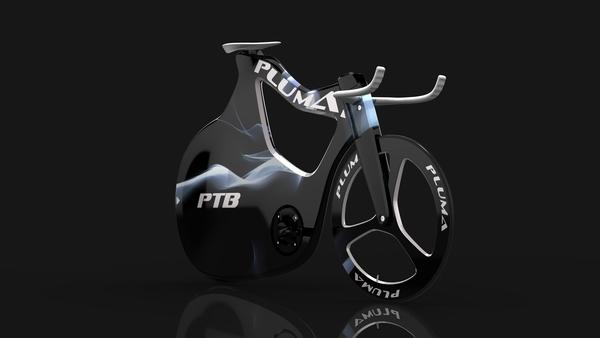 Aerodynamisches Fixie/Bahnrad: Pluma