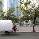 In Echt: Dreirad-Wohnwagen