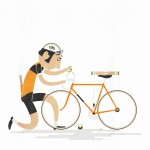 Illustrationen: Legenden des Radsports von Andy Arthur