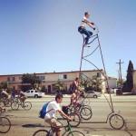 Das höchste Fahrrad der Welt