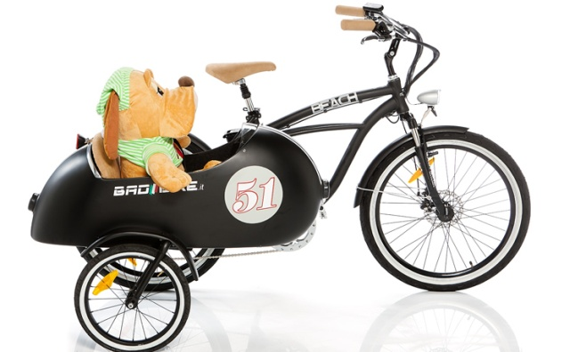 Cargobike anders: Elektro-Cruiser mit Beiwagen