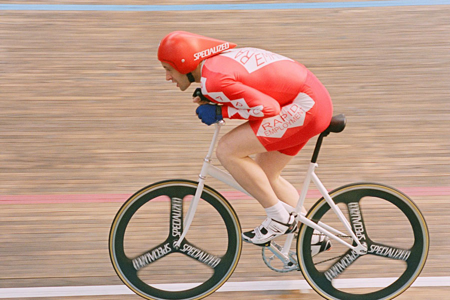 Grame Obree im Fyling Scotsman Film