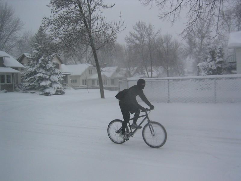 Rad fahren im Winter