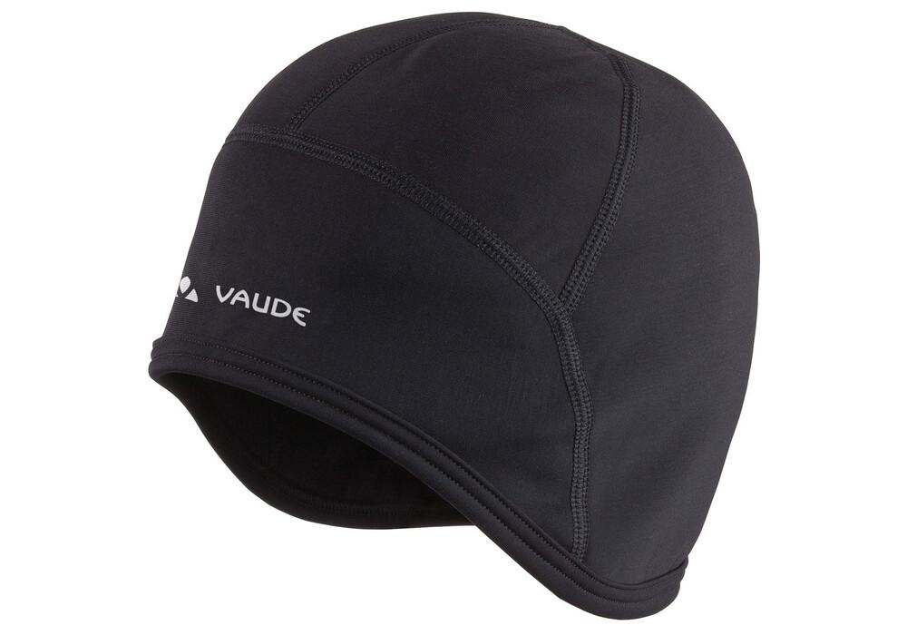 Vaude Fahrrad-Mütze in schwarz. Sie passt unter den Helm und kostet unter 20 Euro.