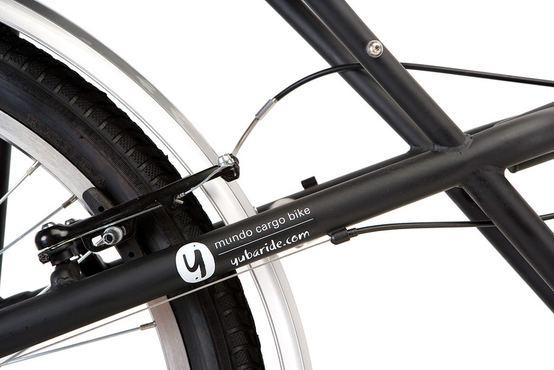 Yuba Mundo schwarz: Rahmen mit Logo