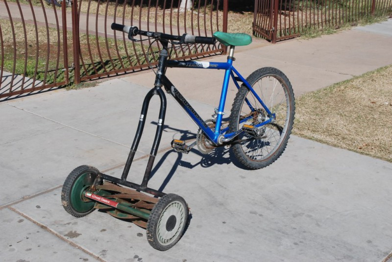 DIY Fahrrad-Rasenmäher