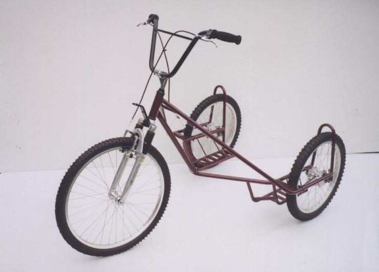 Hundeschlitten-Fahrrad mit drei Rädern
