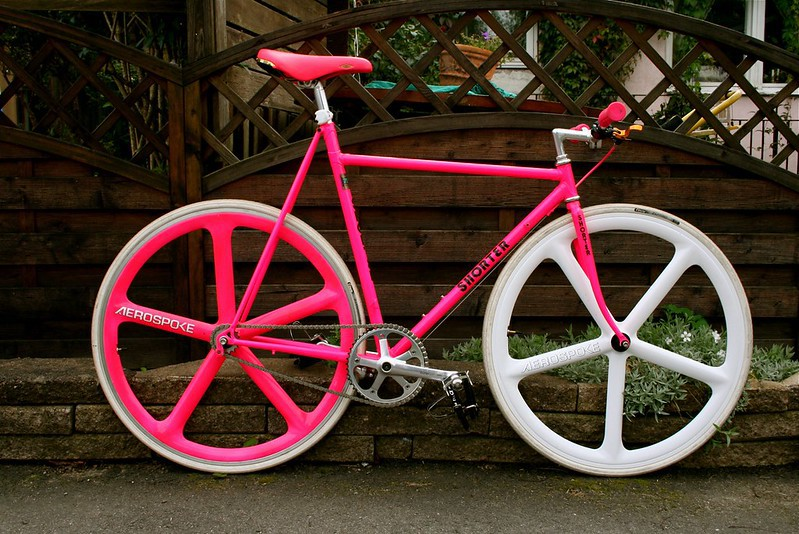 Shorter Low Pro Fixie in neon pink