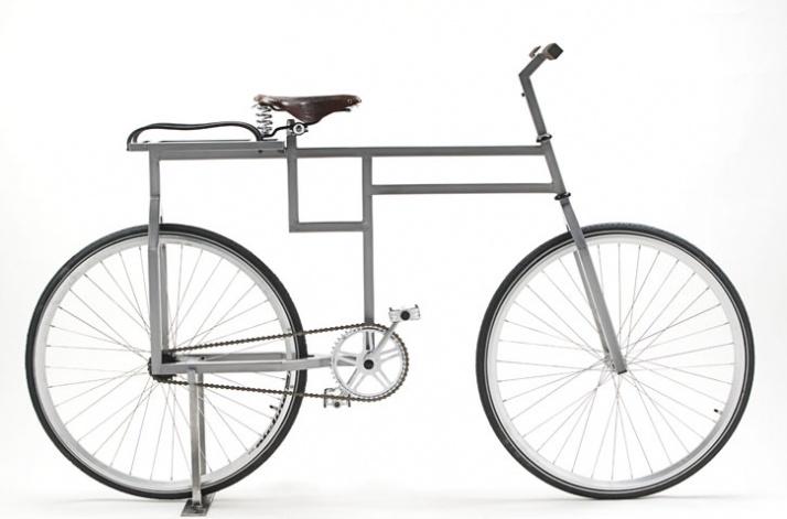 Baubike: Eckiges Fahrrad