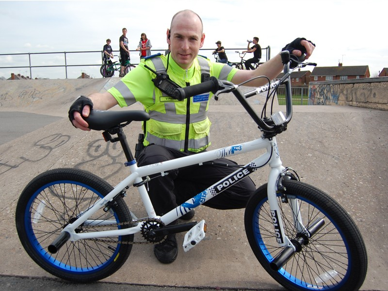 Polizei BMX Bike in England