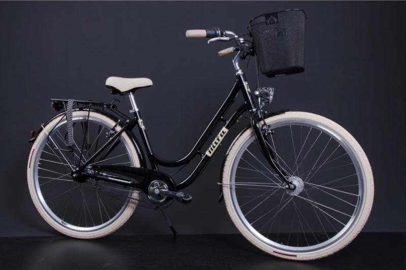Mifa Fahrrad: Ein Cityrad für Damen in schwarz. Sehr schick.