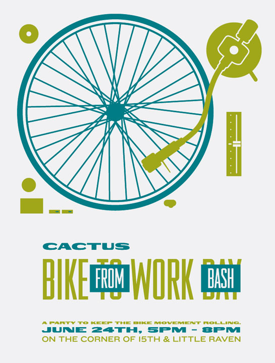 "Cactus Fahrrad- Poster ""Bike to Work Day""."