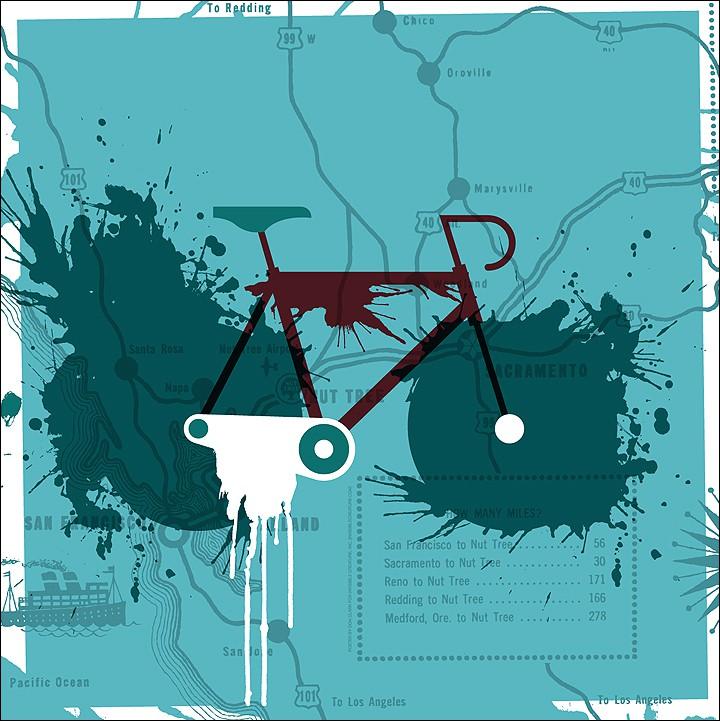 Fahrrad -Plakat von Don Clark, zu kaufen über Poster Cabinet