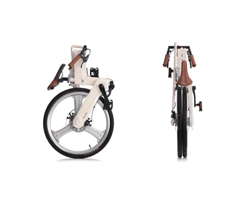 iF Mode Faltrad weiß gefaltet