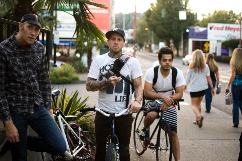 Radfahrer in Portland - Bilder von Micah Fischer