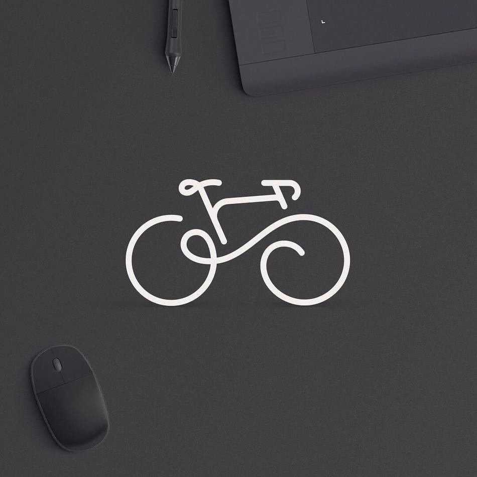 Minimal Bike Logo von Toddigital