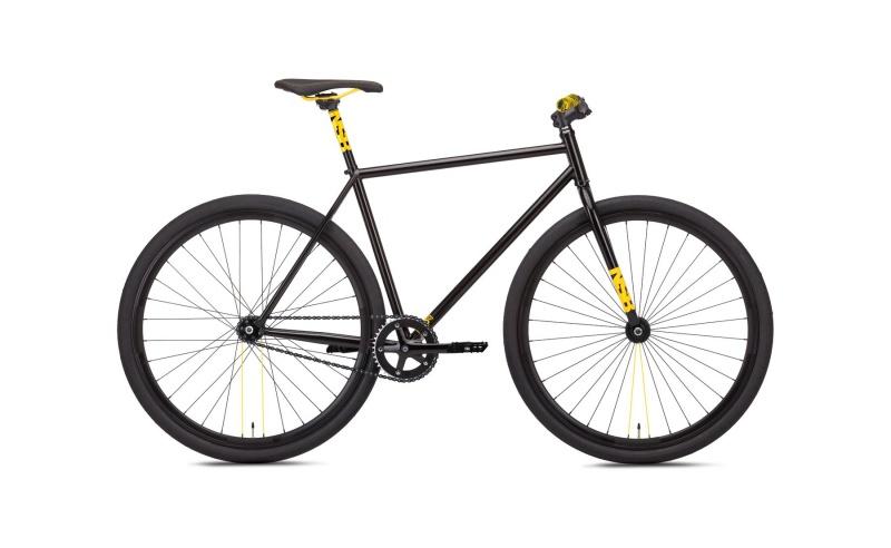 NS Bikes Analog Fixie-Bike in schwarz und gelb