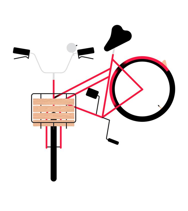 Bikes of Copenhagen: Rotes Herren Hollandrad mit Holboden-Korb