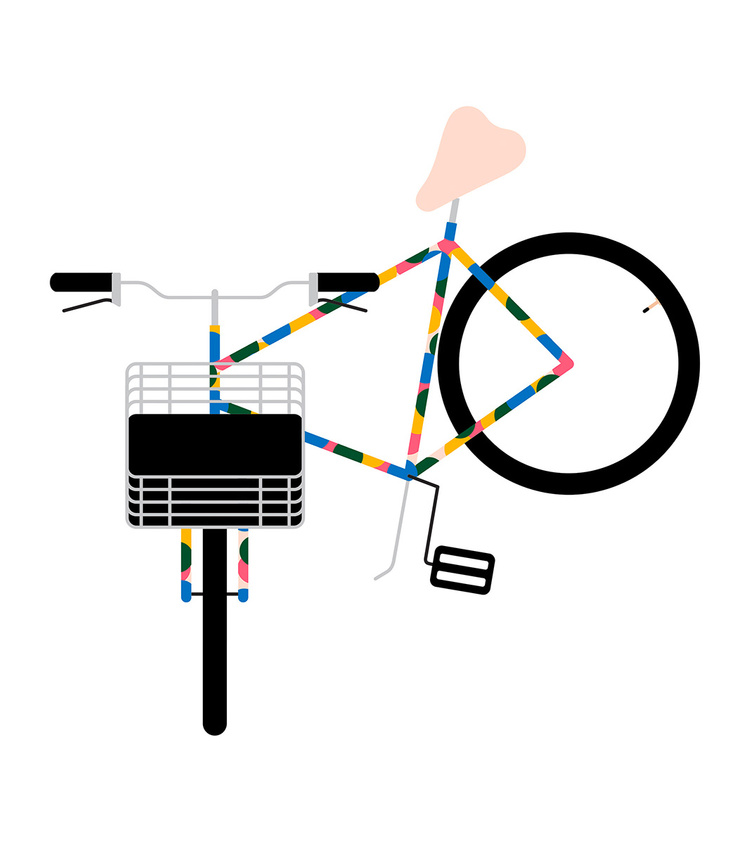 Bikes of Copenhagen: Buntes Fixie mit Stahlkorb