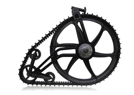 Ktrak Snow Bike Kit mit Raupen füs Hinterrad
